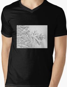 A Wintry Script Mens V-Neck T-Shirt