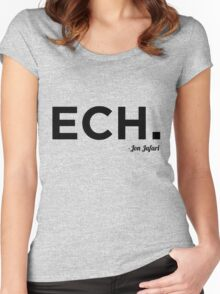 ECH Black Women's Fitted Scoop T-Shirt