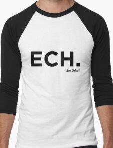 ECH Black Men's Baseball ¾ T-Shirt