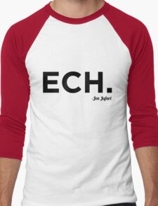 ECH Black Men's Baseball ¾ T-Shirt