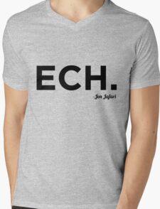 ECH Black Mens V-Neck T-Shirt