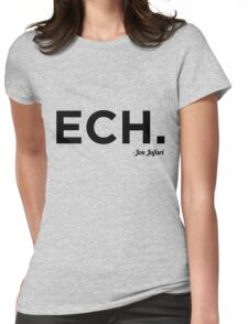 ECH Black Womens Fitted T-Shirt