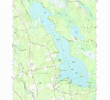 Maine USGS Historical Map Pushaw Lake 102901 1977 24000 by wetdryvac