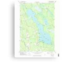 Maine USGS Historical Map Pushaw Lake 102901 1977 24000 Canvas Print