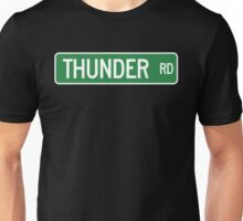 Thunder Road street sign (color version) Unisex T-Shirt