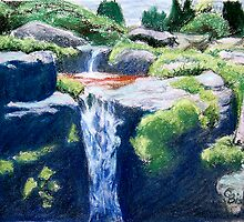 Olbrich Garden Falls by Carolyn Bishop