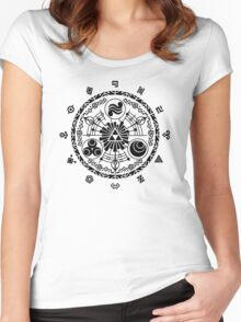 Gate of Time - Black Women's Fitted Scoop T-Shirt
