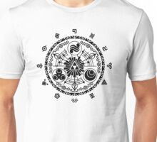 Gate of Time - Black Unisex T-Shirt