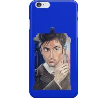 """Number 10"" - Tardis shirt iPhone Case/Skin"