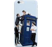 One Direction & The Tardis (transparent) iPhone Case/Skin
