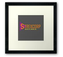 StrexCorp - Believe in a Smiling God Framed Print