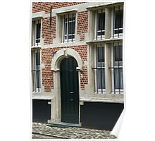 Lier Beguinage - Windows and Door Poster
