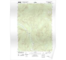 Maine USGS Historical Map Puzzle Mountain 20110829 TM Poster