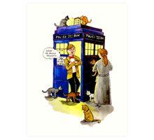 Cat Lady Companion Art Print