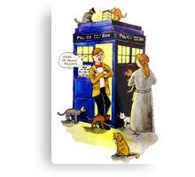 Cat Lady Companion Metal Print