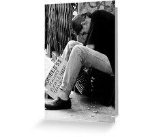 Homeless Hungry Greeting Card