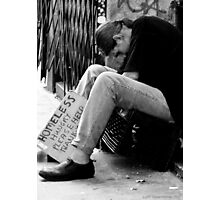 Homeless Hungry Photographic Print
