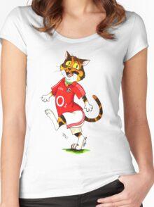 SkyeCatz: Cork Bindi! Women's Fitted Scoop T-Shirt