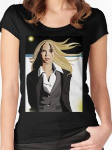 Anna Torv - Fringe Women's Fitted Scoop T-Shirt