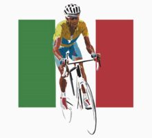 Maillot Jaune, Italy Flag 2 One Piece - Short Sleeve