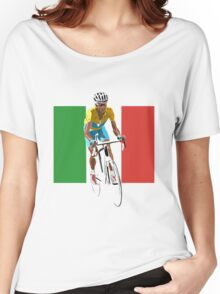 Maillot Jaune, Italy Flag 2 Women's Relaxed Fit T-Shirt