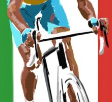 Maillot Jaune, Italy Flag 2 Sticker