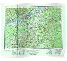 Maine USGS Historical Map Quebec 807078 1962 250000 Poster