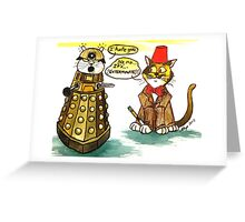 SkyeCatz Whovians Greeting Card