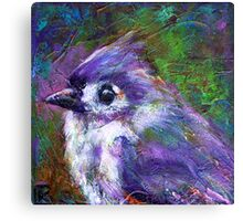 Reasons to Be Cheerful: Tufted Titmice Canvas Print