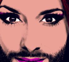 Conchita Wurst - Pop Art - Yellow version 4 Sticker