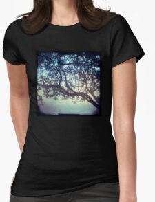 Sunset trees ttv photograph Womens Fitted T-Shirt