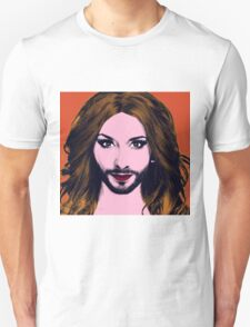 Conchita Wurst - Pop Art - Orange version 3 T-Shirt