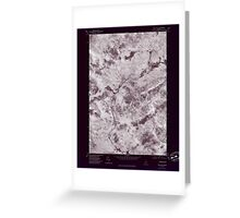 Maine USGS Historical Map Quill Hill 807080 1977 24000 Inversion Greeting Card