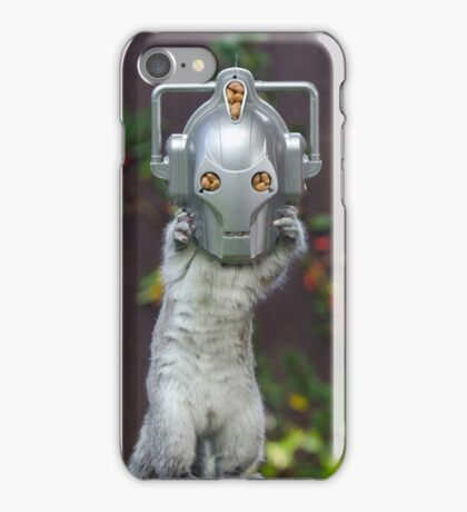 Cyber Squirrel! Be FURRY afraid Doctor Who! iPhone Case/Skin