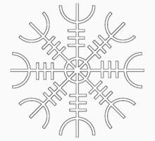 Ægishjálmur - Helm of Awe Symbol Kids Clothes