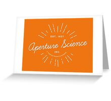 Aperture Science Greeting Card