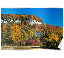 Autumn Colours in the Morning at Rattlesnake Point, Niagara Escarpment Poster