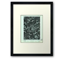 Maine USGS Historical Map Quill Hill 807080 1977 24000 Framed Print