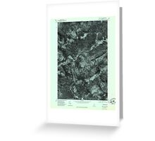 Maine USGS Historical Map Quill Hill 807080 1977 24000 Greeting Card