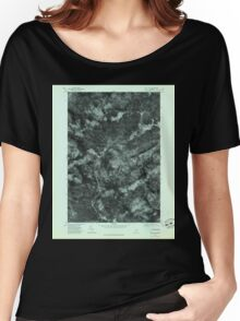 Maine USGS Historical Map Quill Hill 807080 1977 24000 Women's Relaxed Fit T-Shirt