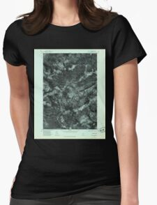 Maine USGS Historical Map Quill Hill 807080 1977 24000 Womens Fitted T-Shirt