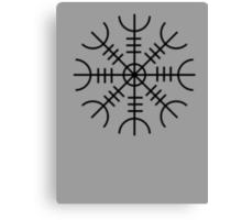 Helm of Awe (Ægishjálmr) Viking Symbol Canvas Print