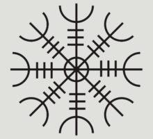 Helm of Awe (Ægishjálmr) Viking Symbol by evanmayer