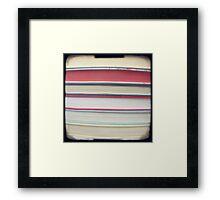 Red stripe books photograph Framed Print