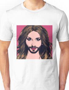 Conchita Wurst - Pop Art - Pink version 2 Unisex T-Shirt