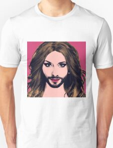 Conchita Wurst - Pop Art - Pink version 2 T-Shirt