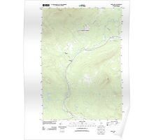 Maine USGS Historical Map Quill Hill 20110909 TM Poster