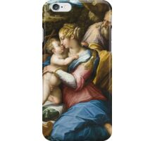 Giorgio Vasari - Holy Family with Saint Francis in a Landscape iPhone Case/Skin