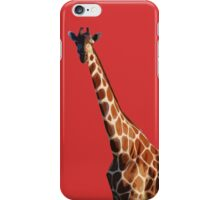 Giraffa camelopardalis RED iPhone Case/Skin