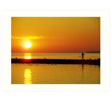 Sunrise on Lake Ontario Art Print